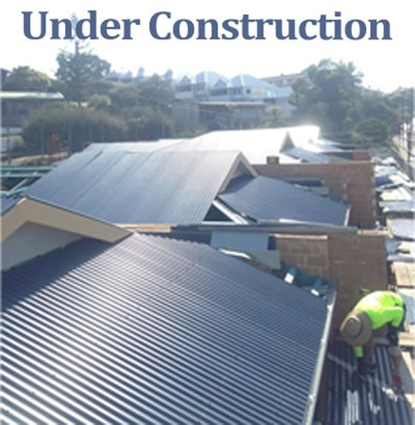 Metal Roofing under construction